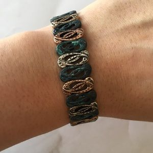 Antique Style Faux Copper Bracelet